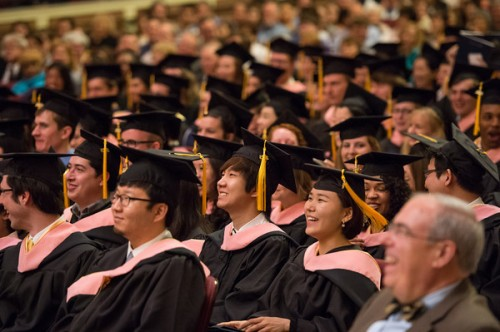 Students will receive their bachelor's and master's degrees on Sunday, May 18. The doctoral ceremony for students receiving a DMA or Ph.D. degree will be held on Saturday, May 17.