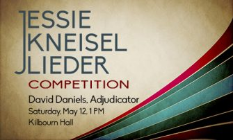 Kneisel Lieder Competition poster