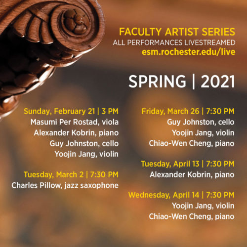 Faculty Artist Series poster