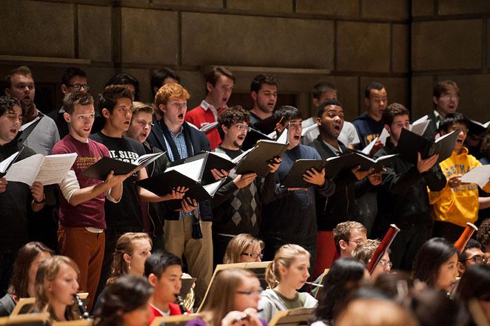 Eastman Chorale in rehearsal for Eastman Weekend 2012