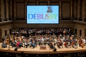 Photos of Eastman: Rehearsal for a joint performance by the Eastman School Symphony Orchestra and the Eastman Philharmonia