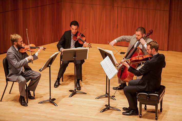 The JACK Quartet was formed by Eastman students and is now one of the leading contemporary music ensembles. They returned to perform at Eastman in April 2013.