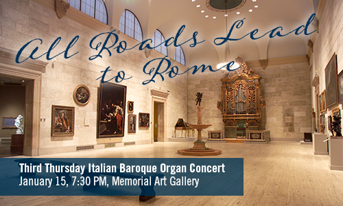 Italian Baroque Organ Concert Memorial Art Gallery