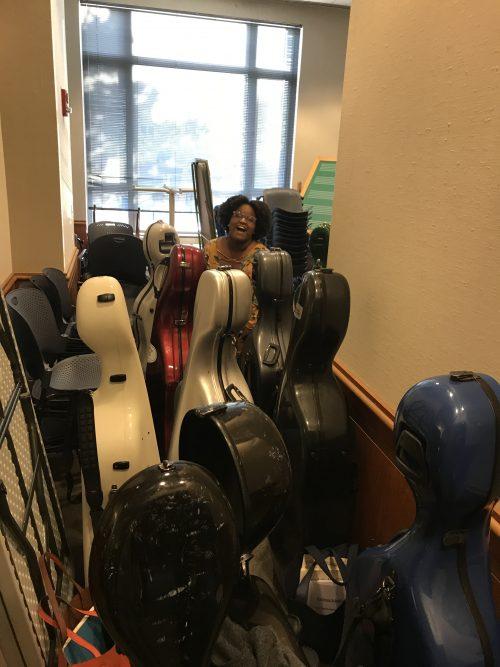 Instrument cases galore!