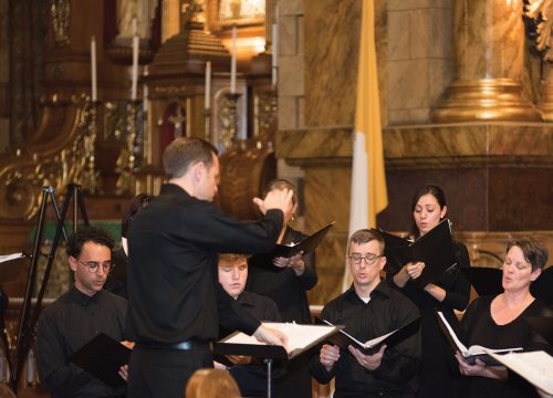 Michael Anderson and singers from the 2017 institute, St. John Cantius Church, Chicago
