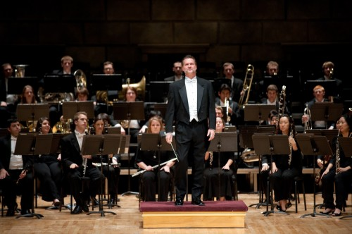 The Grand Opening Dedication Concert featured the Eastman Wind Ensemble under conductor Mark Davis Scatterday.