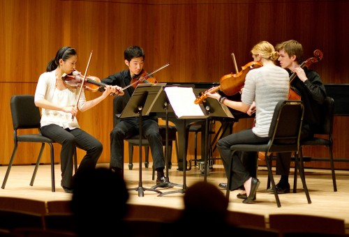 The nine-hour Eastman Chamber Music Marathon featured works for string, brass, and wind groups, among others.