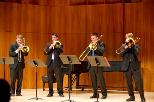"The Restless Bones played Bach's ""Toccata and Fugue"" during the Eastman Chamber Music Marathon in Hatch Recital Hall."