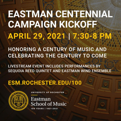 Image of centennial fundraising campaign poster