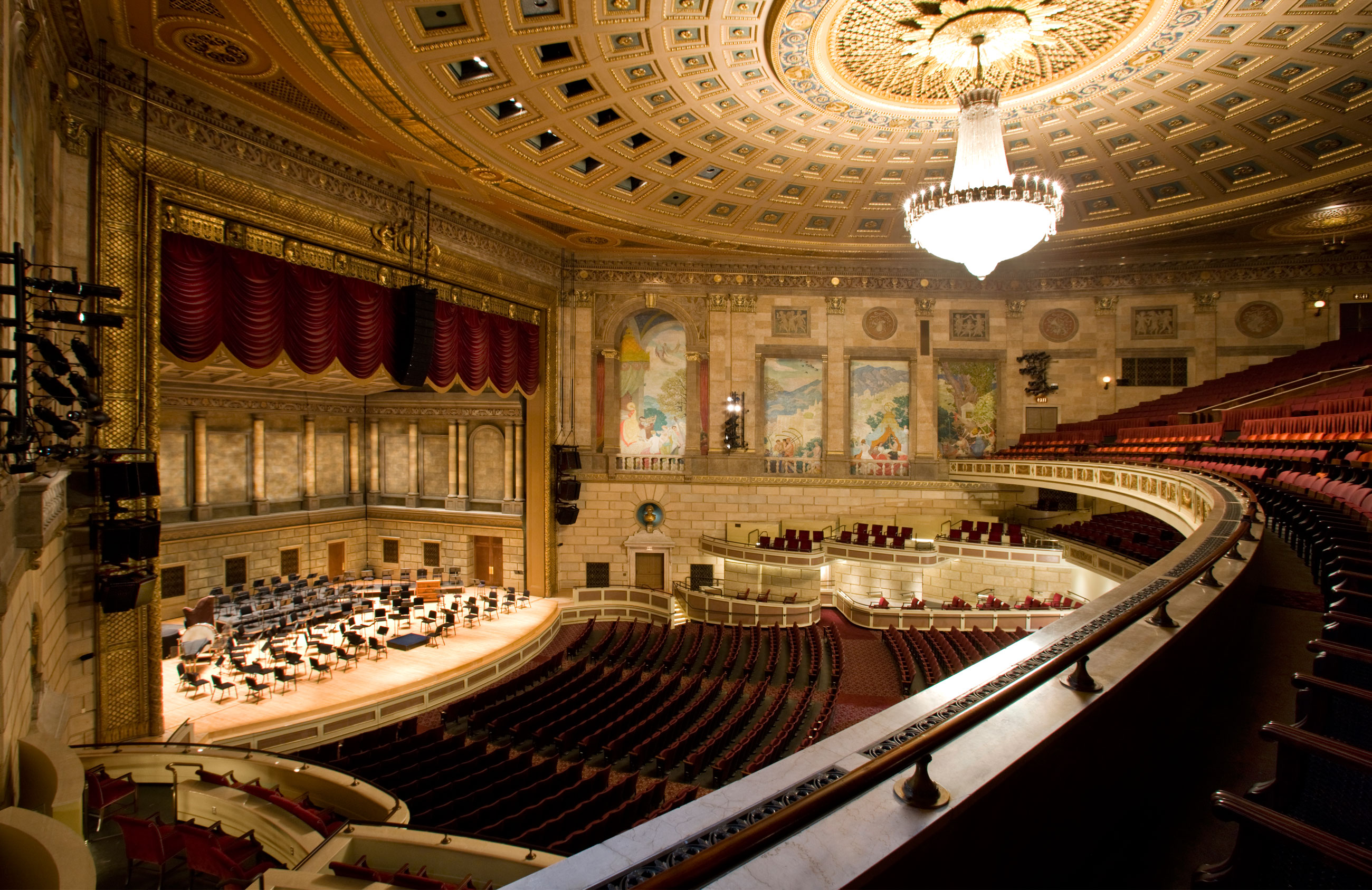 Inside kodak hall eastman school of music for Orchestra house