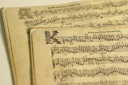 Manuscript from Sibley Music Library