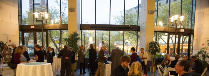 Welcome reception with Dean Jamal Rossi at Miller's Center, Eastman School of Music, October 9th, 2015.