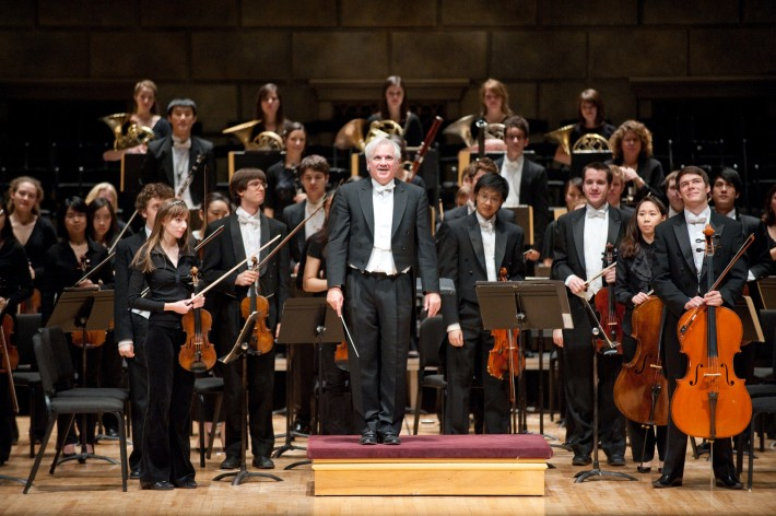 Conductor Neil Varon led the Eastman Philharmonia for the Grand Opening Dedication Concert for the Eastman East Wing.