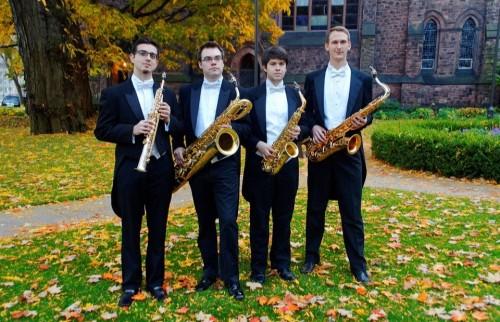 Project Fusion members are, from left, Dannel Espinoza, Matt Evans, Matt Amedio,and Michael Sawzin