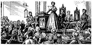 Drawing of Women's Rights Convention held in 1848
