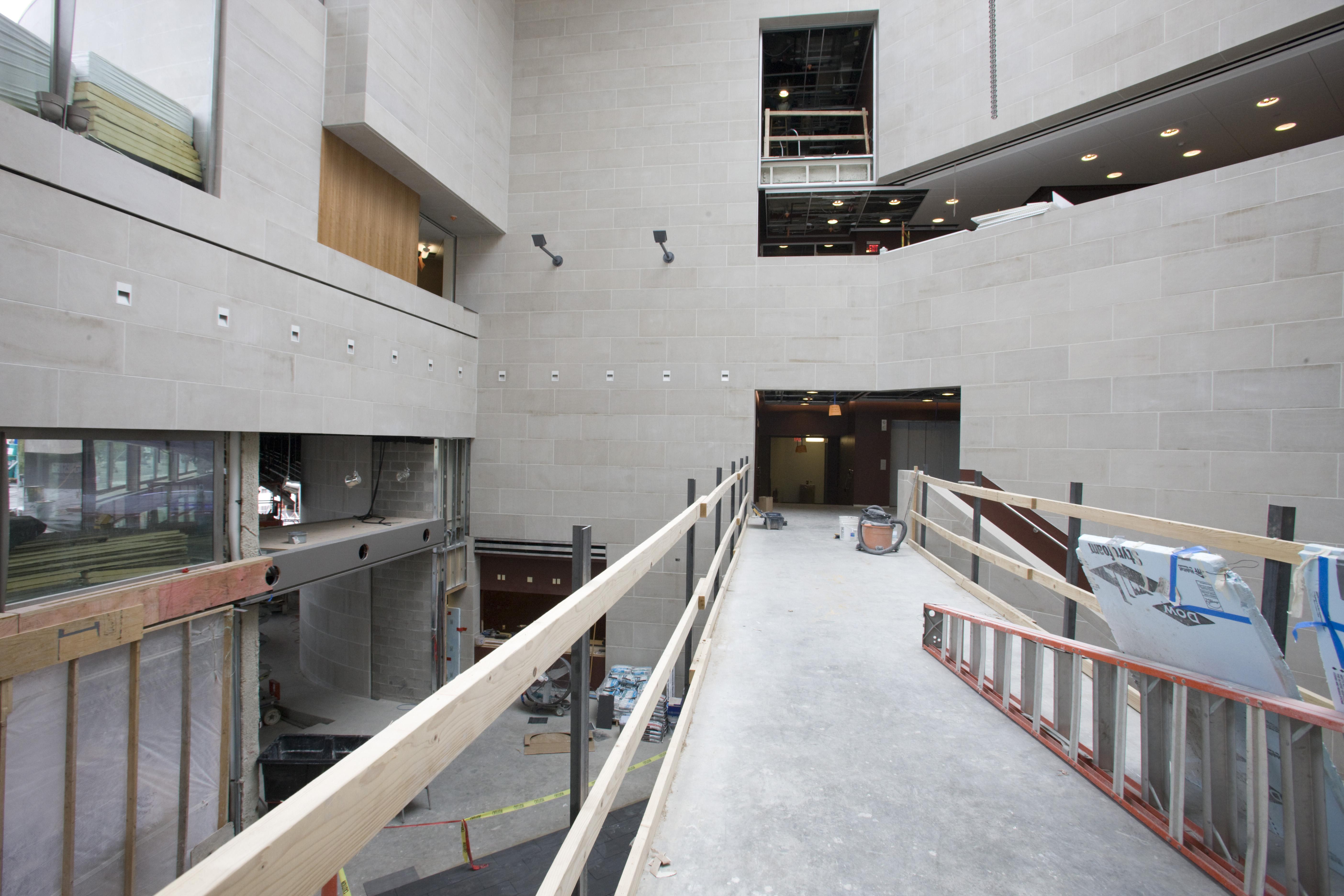 Interior Building Construction : Eastman school renovation new building construction