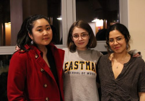 Naomi Nakanishi, Olivia Galante, and Luisa Hildalgo