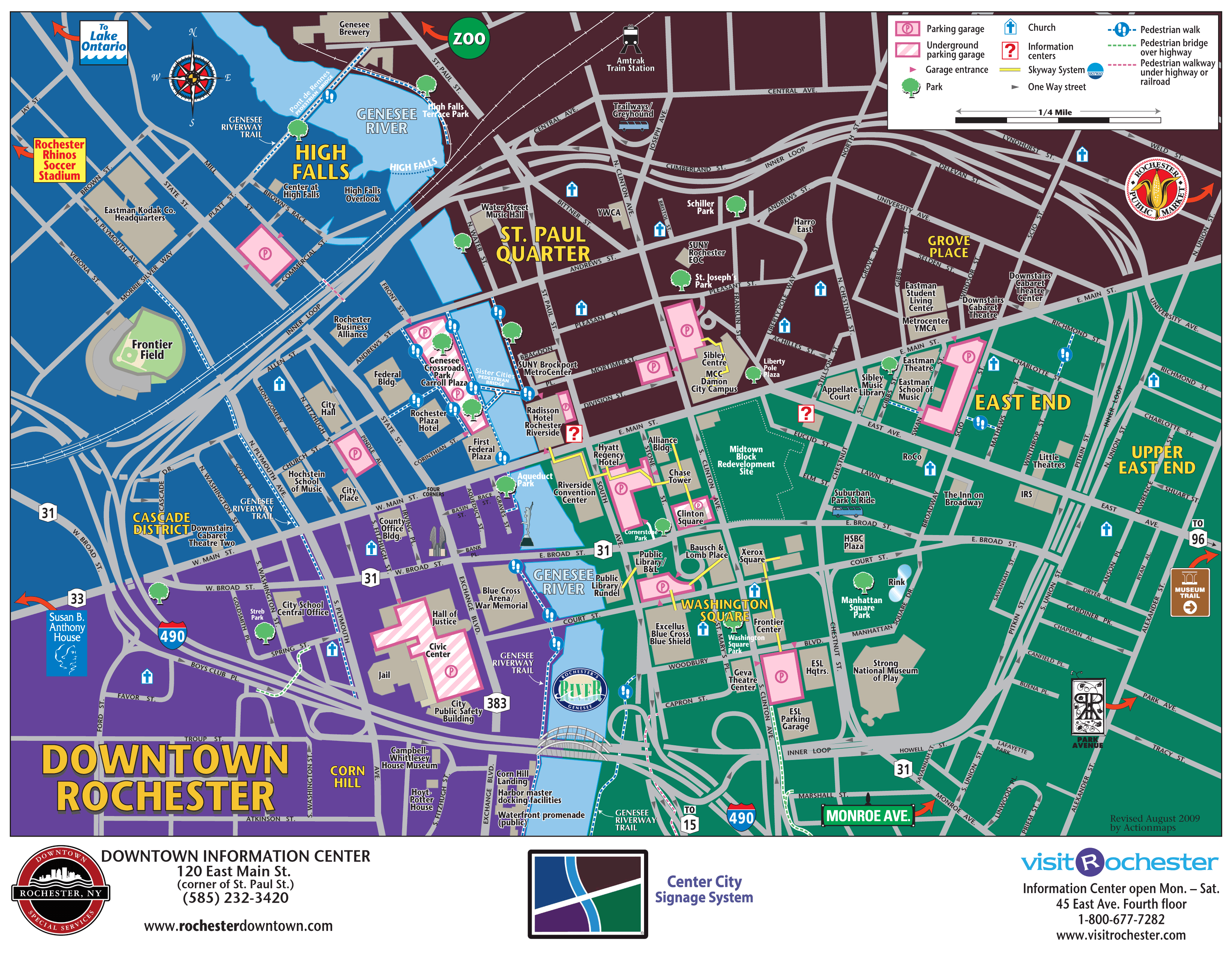 map of downtown rochester