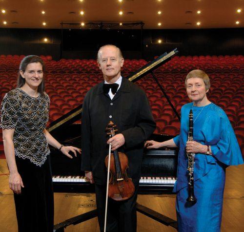 The Verdehr Trio: pianist Silvia Roederer, violinist Walter Verdehr, clarinetist Elsa Ludewig-Verdehr